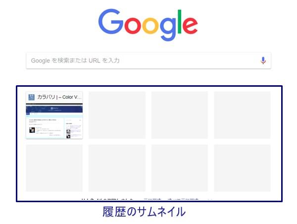 以前のGoogleトップ画面