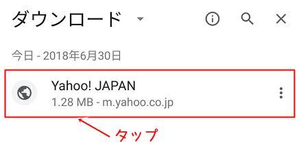 保存ファイルの表示