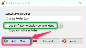 folder painter の設定