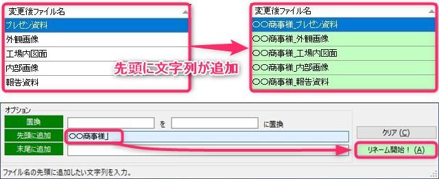 ファイルの先頭に文字列が追加される