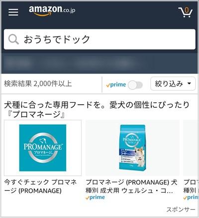 おうちでドックのアマゾン検索結果