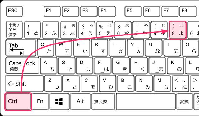 ctrl+9 右端のタブに移動するショートカットキー