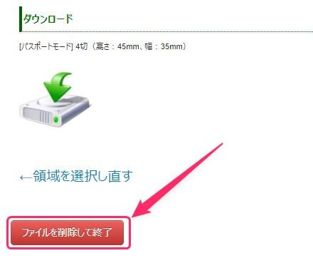 ファイルを削除して終了